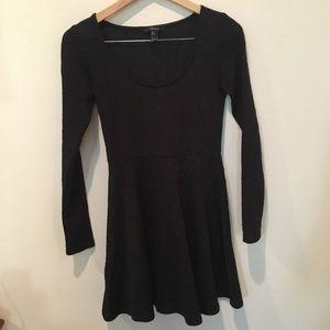 Forever 21 long sleeve lace skater dress